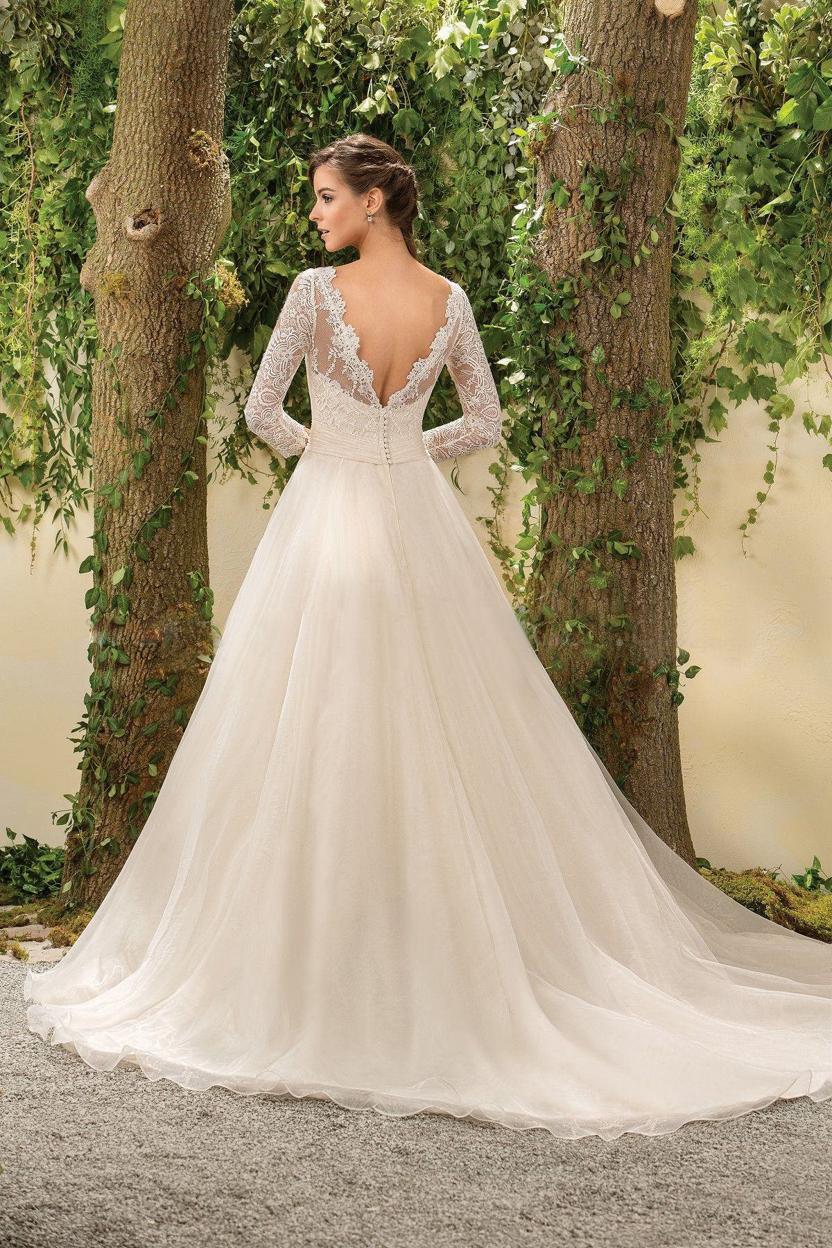 Long sleeve ball gown wedding dresses   uLong Sleeve Open Back Lace Bodice Ball Gown Wedding Dress