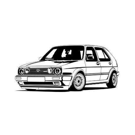 Resultat De Recherche D Images Pour Silhouette Vw Golf Cars