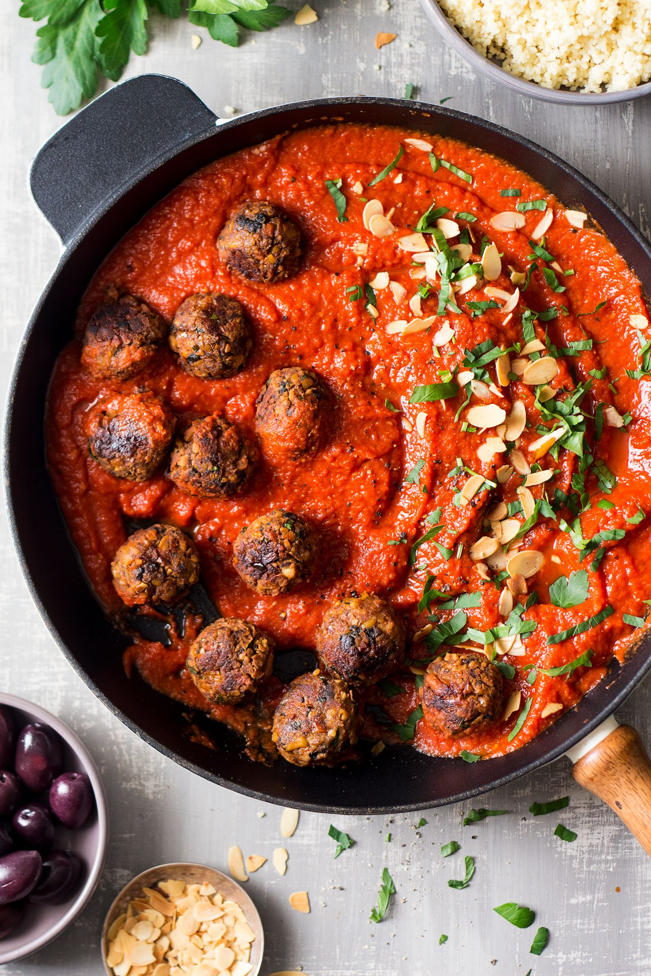 Vegan Meatballs Moroccan Inspired