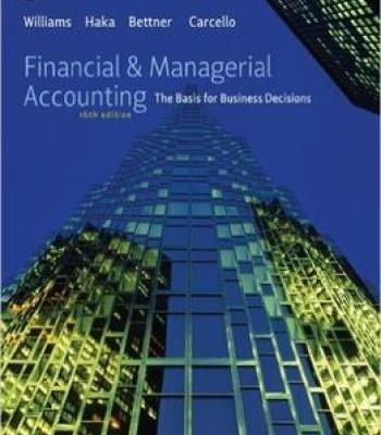 case 13 35 managerial accounting Description this book is the sixth of seven books which introduces the basic principles of accounting this book introduces managerial accounting, with a primary focus on internal business reporting, decision making, planning, strategy, budgets, and cost control.