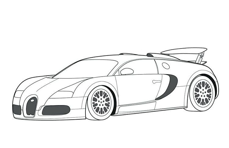 Printable Race Cars Coloring Pages Bugatti Bugatti Veyron Porsche