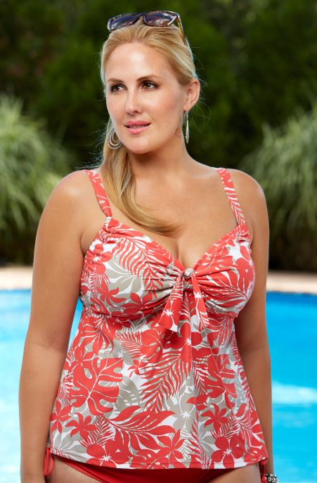 81caf8514f Beach House brings to us this season the Newport Tropical Floral Separates  Tankini Swim Top  38003. Shades of Coral   Khaki create this lovely  tropical ...