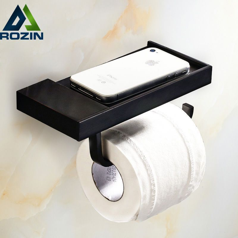 Free Shipping Wholesale And Retail Oil Rubbed Bronze Unique Toilet Paper Holder Wall Mounted Bathroom Roll Paper Shelf Bathroom Toilet Paper Holders Toilet Paper Wall Mounted Toilet