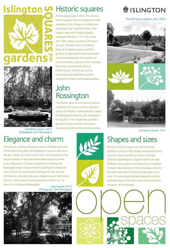 Display Board Showcasing Islington Open Spaces Gardens 400 x 300