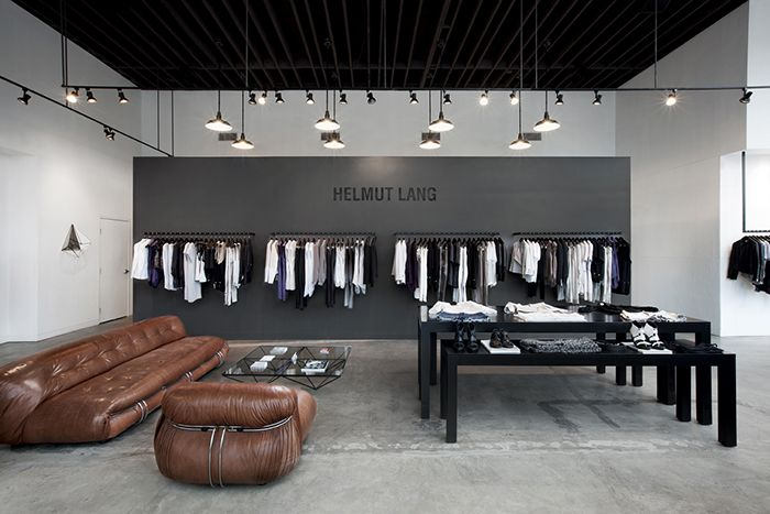 Helmut lang store on melrose ave love this retail space place