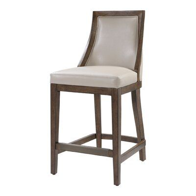 Darby Home Co Morpeth Leather 26 Bar Stool Leather Counter