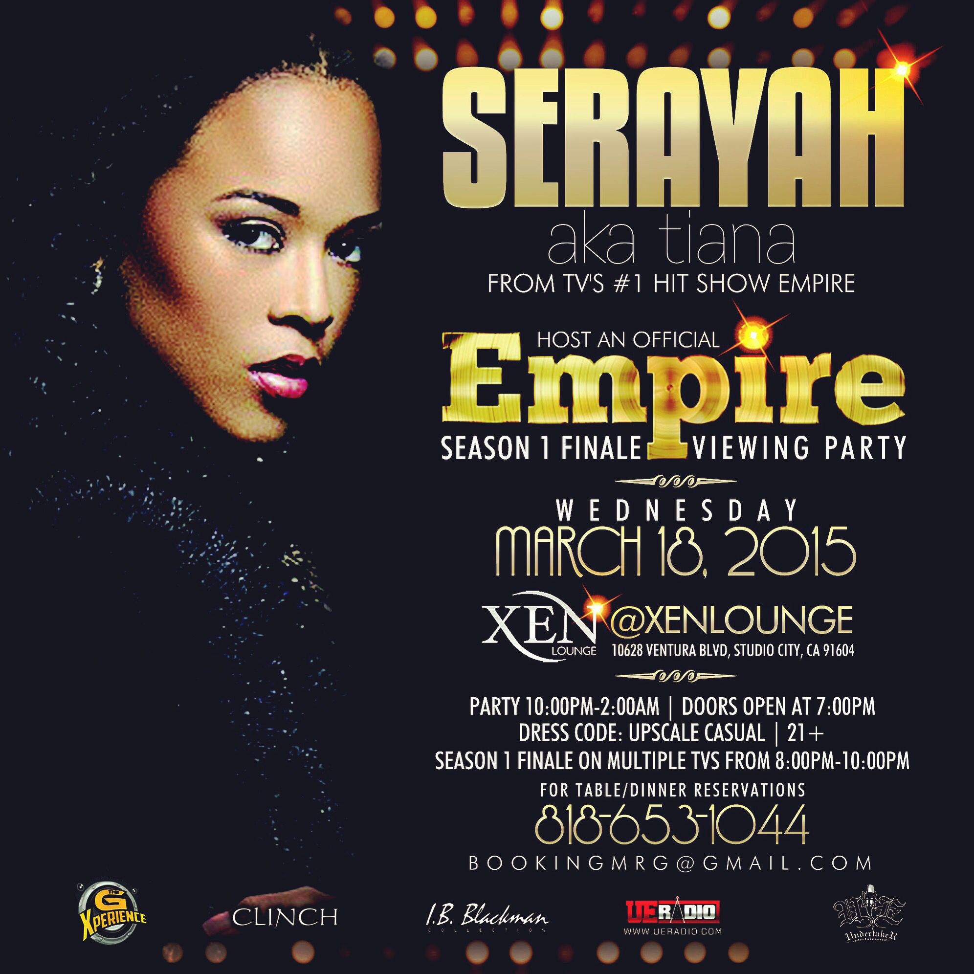 Tonight It S Going Down At Xen Lounge A Special Empire Season 1 Finale Viewing Party Brought To You By Cast Memb Viewing Party Empire Season It S Going Down