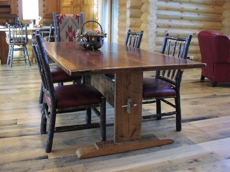 Harvest Table Walnut And Oak Trestle Table Minnesota