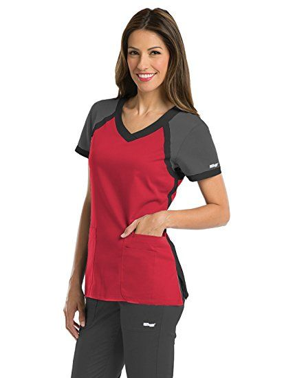 945e85c4916 Amazon.com: Grey's Anatomy Active Women's Tri-Color V-Neck Scrub Top:  Clothing #amazonaffiliate
