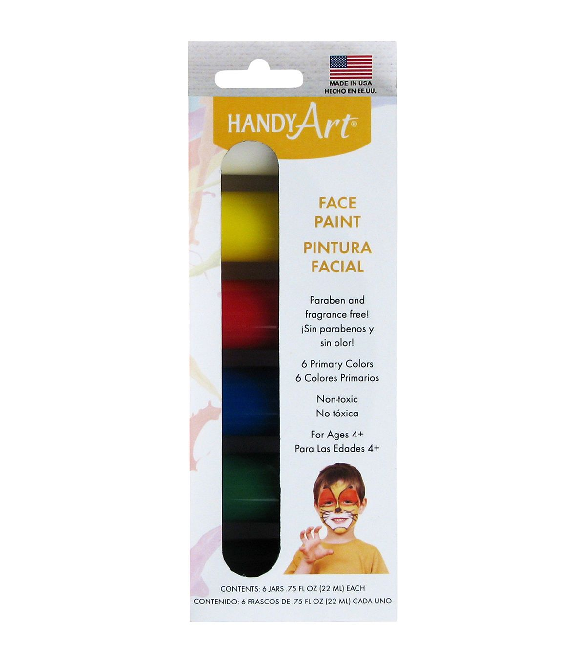 Handy Art Face Paint 75oz 6 Pkg Primary Products Face