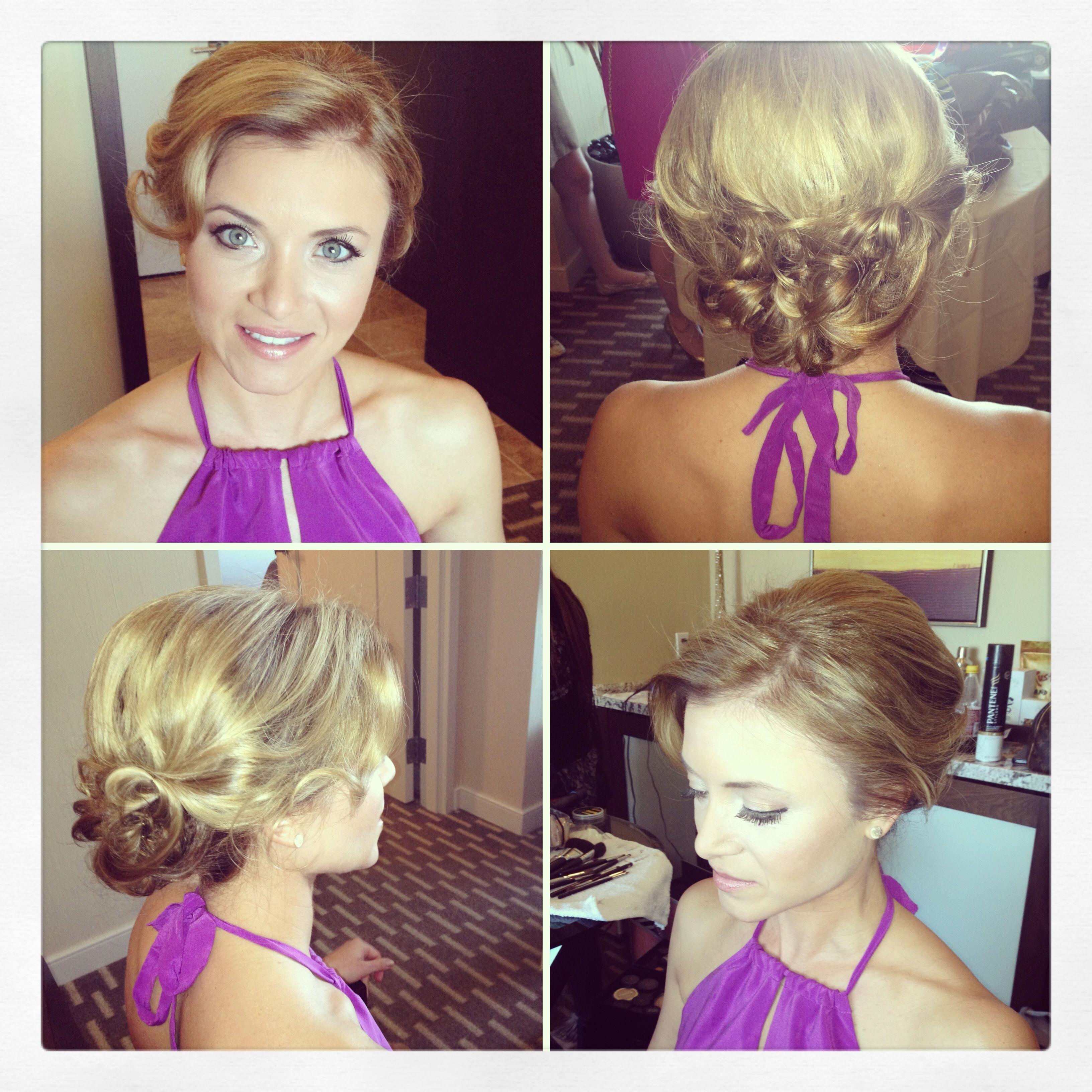 las vegas wedding hair and makeup. julianne hough inspired