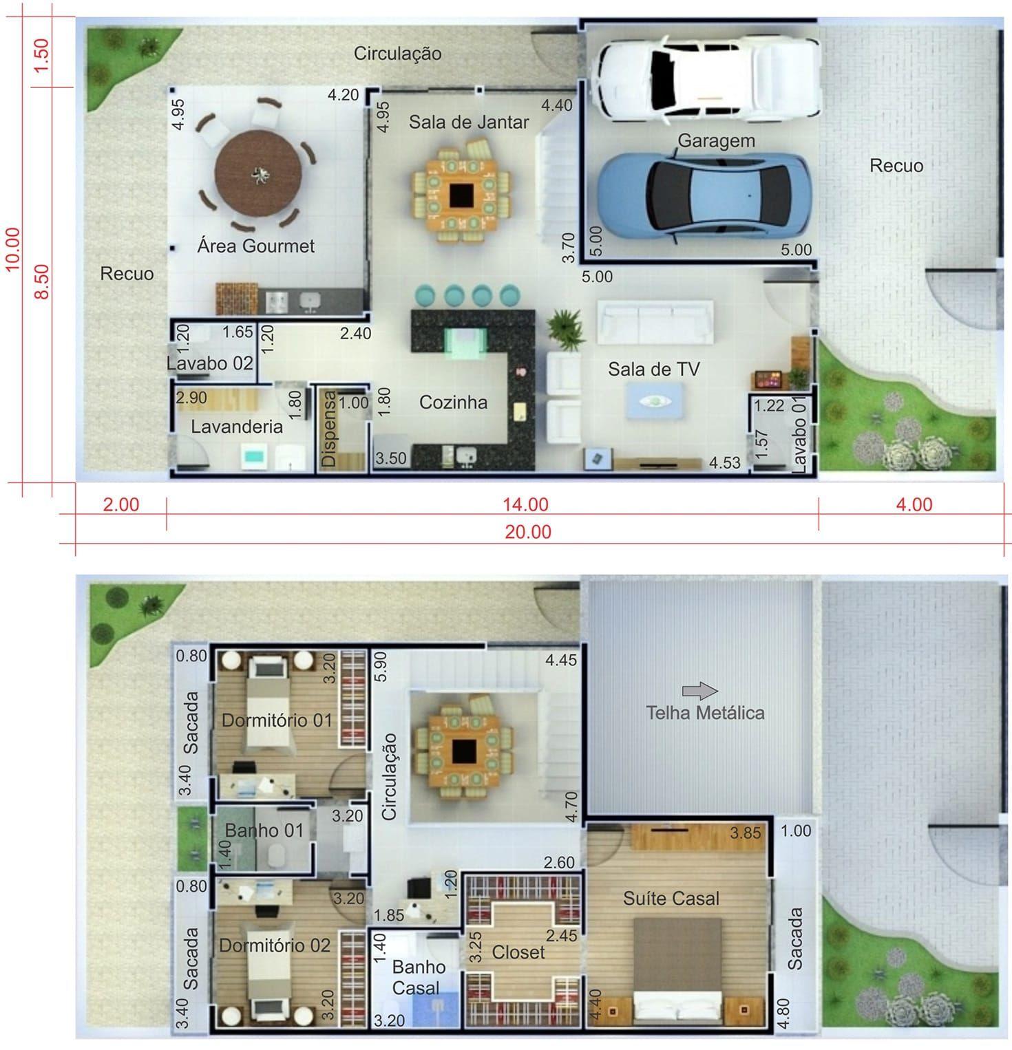 Planos de casas de dos plantas excellent great casa for Casa moderna 9 mirote y blancana