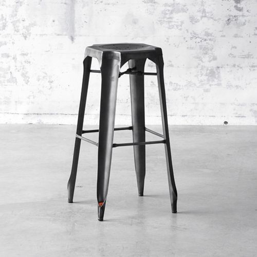 tabouret de bar en acier avec assise perforee multipl s decoclico