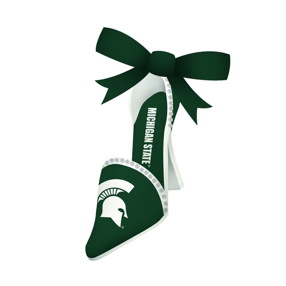 University of michigan christmas ornaments - Michigan State University High Heel Shoe Christmas Ornament