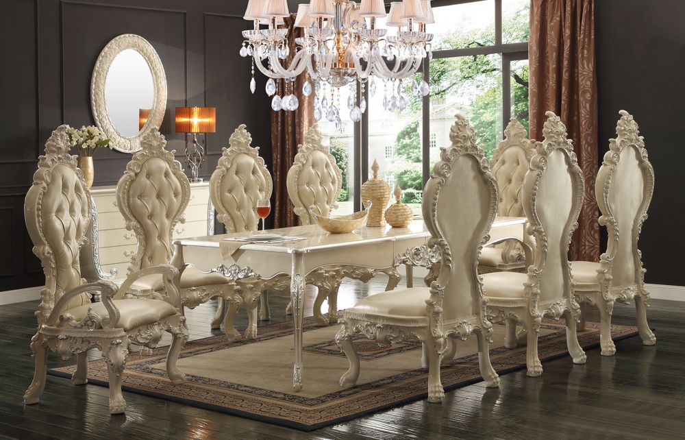 The White Royal Dining Room Formal Dining Room Sets Luxury