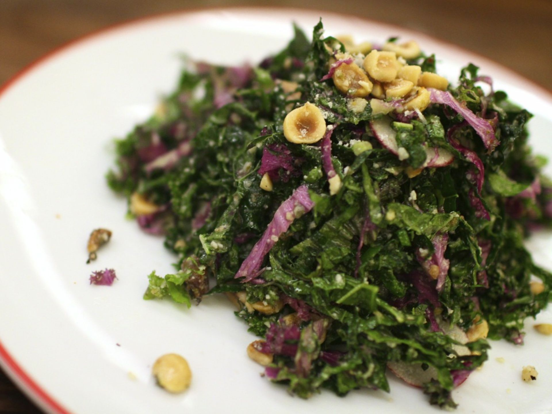 Farmers Fishers Bakers Purple and Black Kale Salad is recommended as a