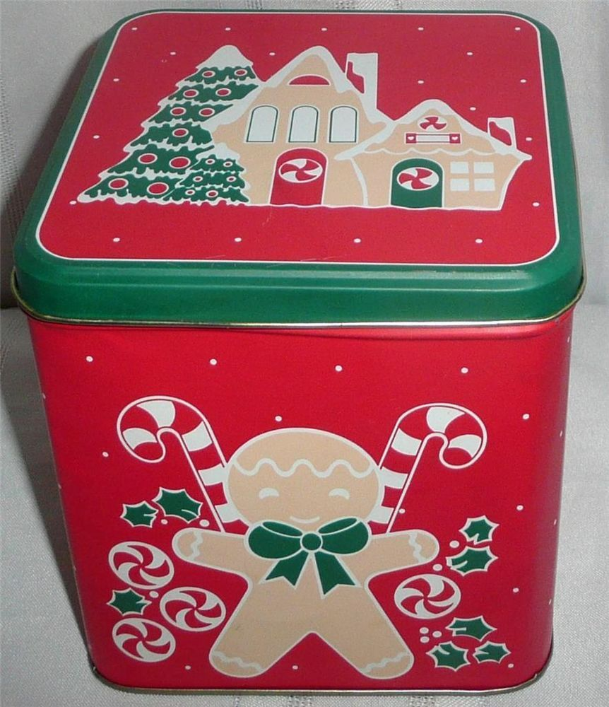 Gingerbread Man/Gingerbread House Tin Box Container Canister   BIG SALE ENDING SOON  HURRY!!!
