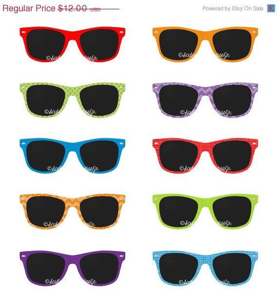 1a3aff4dc087 70% OFF SALE Sunglasses Clipart Summer by ScubamouseStudiosJr ...
