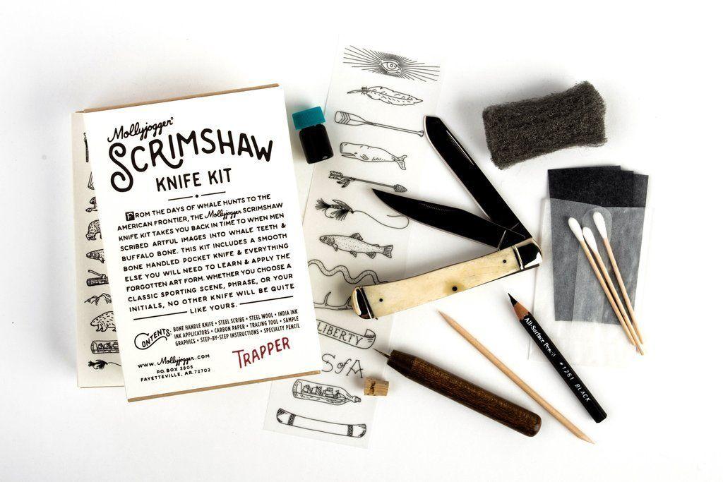 Scrimshaw Knife Kit Kit, Diy knife, India ink