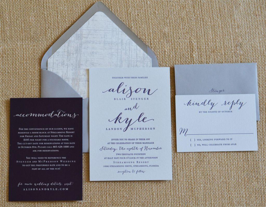 Affordable Letterpress Wedding Invitations Tampa Bay Fl