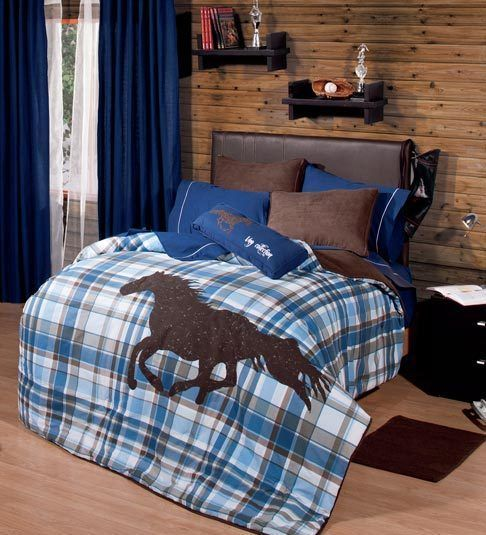 Twin And Full Boys And Teens Polo Horse Comforter Set With