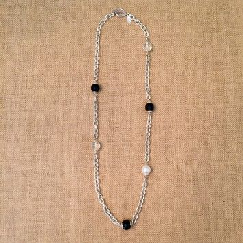"""34"""" Silver tone chain link necklace. Get the lowest price on 34"""" Silver tone chain link necklace and other fabulous designer clothing and accessories! Shop Tradesy now"""