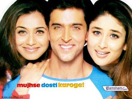 Kareena Kapoor Hrithik Roshan And Rani Mukerji Mujhse Dosti Karoge Indiamovies Bollywood Movies Full Movies Good Movies