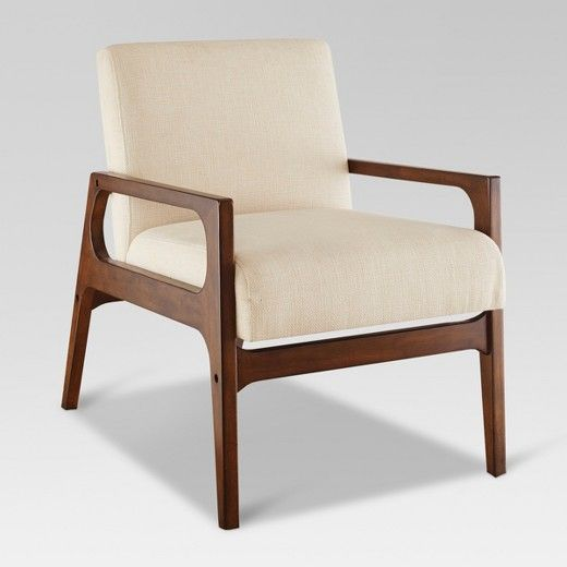 The Windson Wood Arm Chair From Threshold Boasts Finely