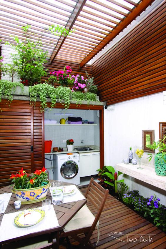 Lavaderos exteriores c mo decorar y organizar el lavadero for Decoracion de jardines y muros exteriores