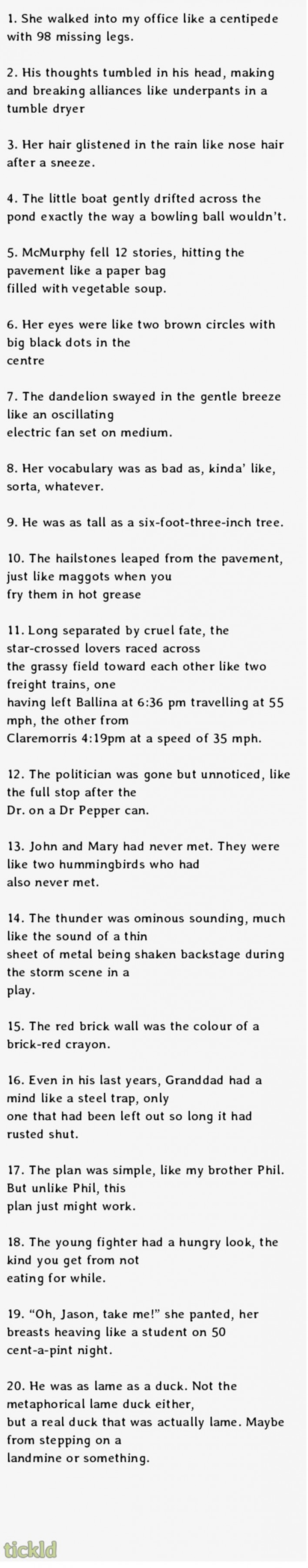 Real English Exam Answers. Hilarious. This is the kind of stuff that goes through my head