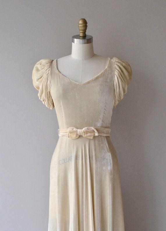 Musso Kleid 1930er Jahre Vintage Brautkleid von DearGolden | Party ...