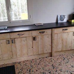 meuble cuisine fait maison