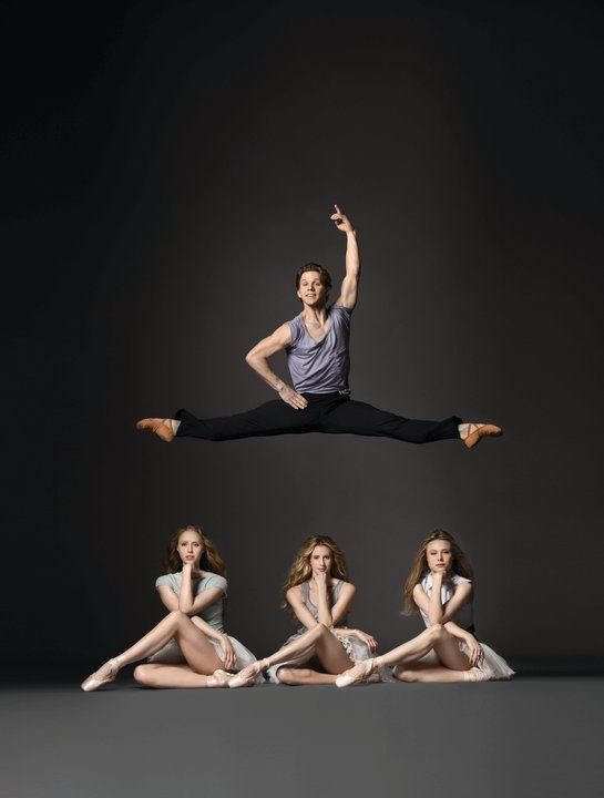 New York City Ballet principles Daniel Ulbricht, Teresa Reichlen, Sterling Hyltin, and Sara Mearns