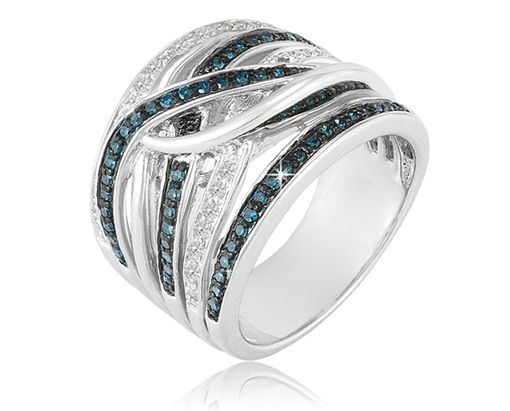 4/18/2012 Mother's Day Flash Deals  $129.99  + FREE SHIPPING 1/2 Carat Blue and White Diamond Ring in Sterling Silver