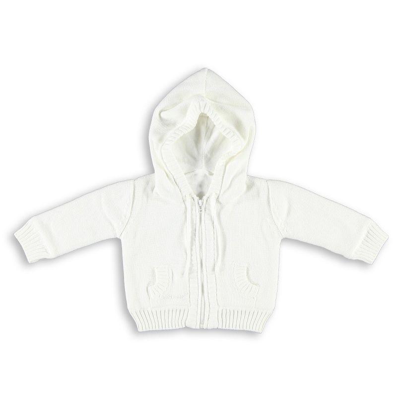 Babys Only vauvan neulehuppari, valkoinen www.pikkuvanilja.fi #babysonly #vauvalle