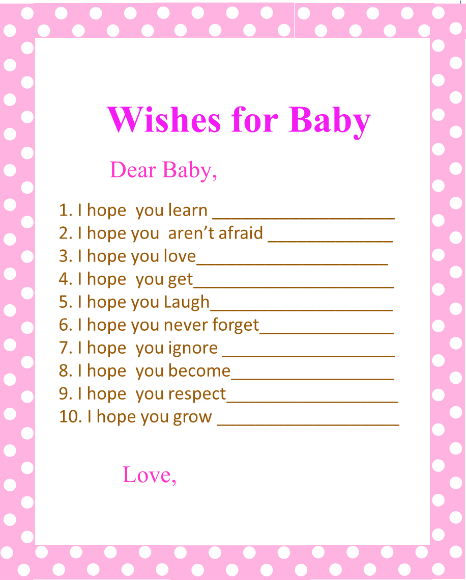 Pink and brown baby shower ideas my practical baby shower guide smart free printable baby shower games nautical baby shower wishes for baby kristyandbryce Image collections