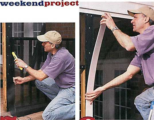 Do it yourself screened porch todays homeowner windows and doors do it yourself screened porch todays homeowner windows and doors weekend project screen it yourself porch in the news screen tight solutioingenieria Image collections
