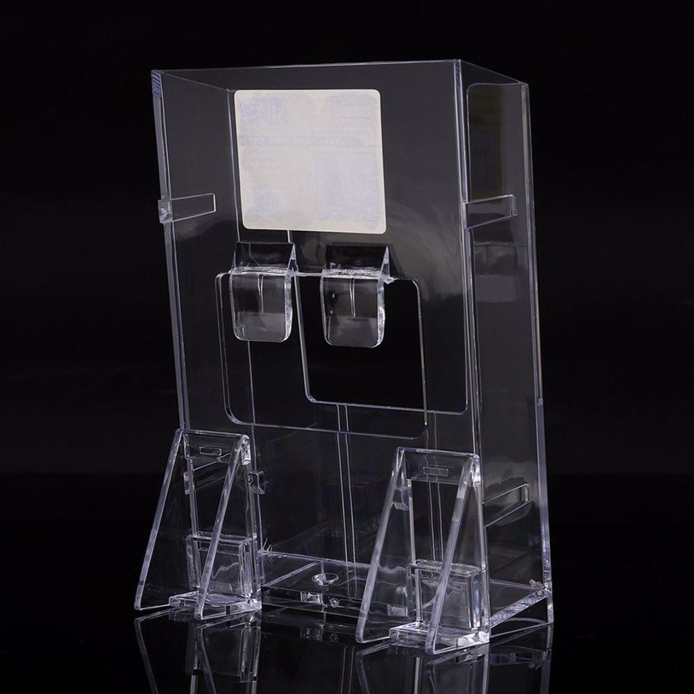 Clear acrylic holder brochure desk stand pamphlet catalog