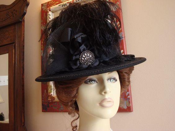 NEW Dark Red and White Ladies Civil War//Victorian//SASS Ladies Dress Hat