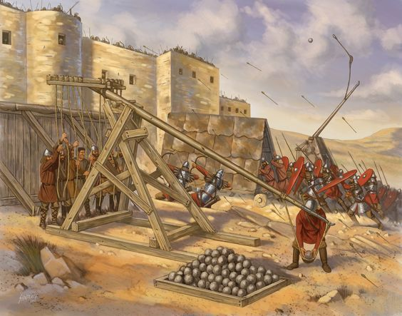 traction trebuchet artillery and forts