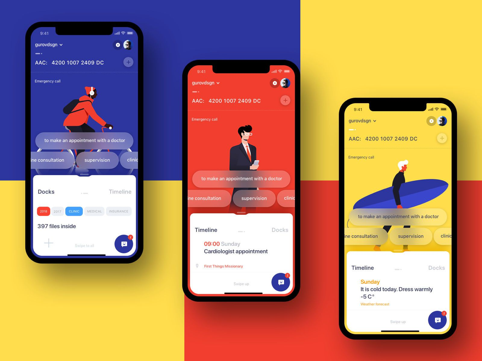Health App By Sergey Gurov Appdesign Fit Minimal Colors Health App Design Ios App Design