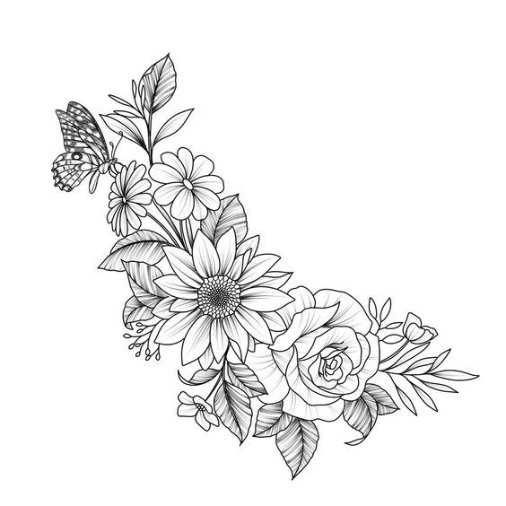Instagram post by 𝙒𝙮𝙤𝙢𝙞𝙣𝙜 𝙒-𝙎 • Jul 7, 2019 at 6:03am UTC #flowertattoos - flower tattoos