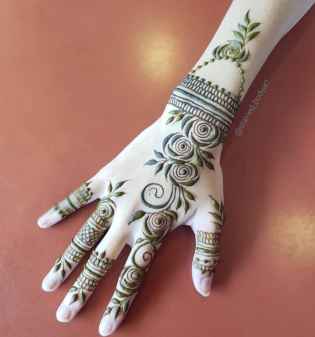 Khaleeji Style Natural Henna Design Henna Designs