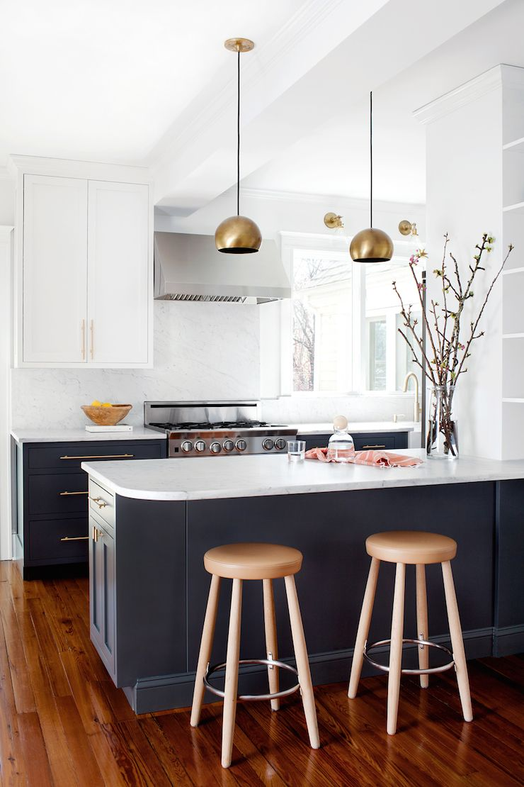 White And Gray Kitchen Dark Grey Blue Cabinets Elizabeth Lawson Design Home