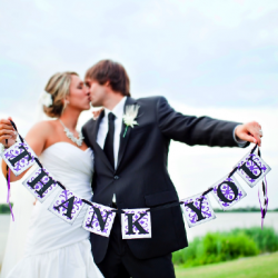 A breathtaking outdoor wedding coupled with a clever way to thank all of your guests at one time.