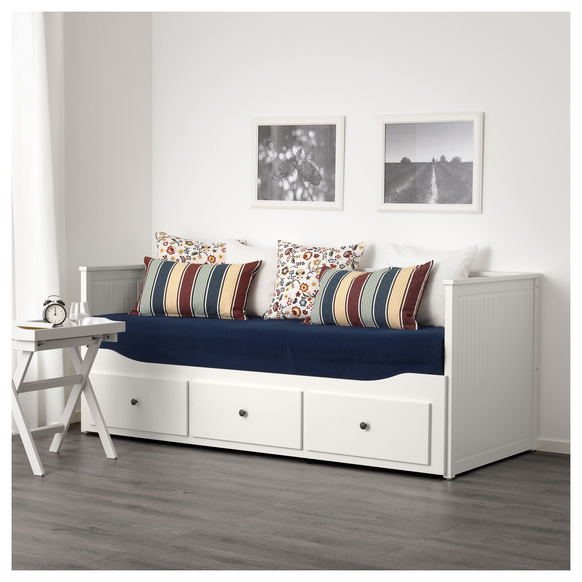 HEMNES Daybed frame with 3 drawers white 80x200 cm