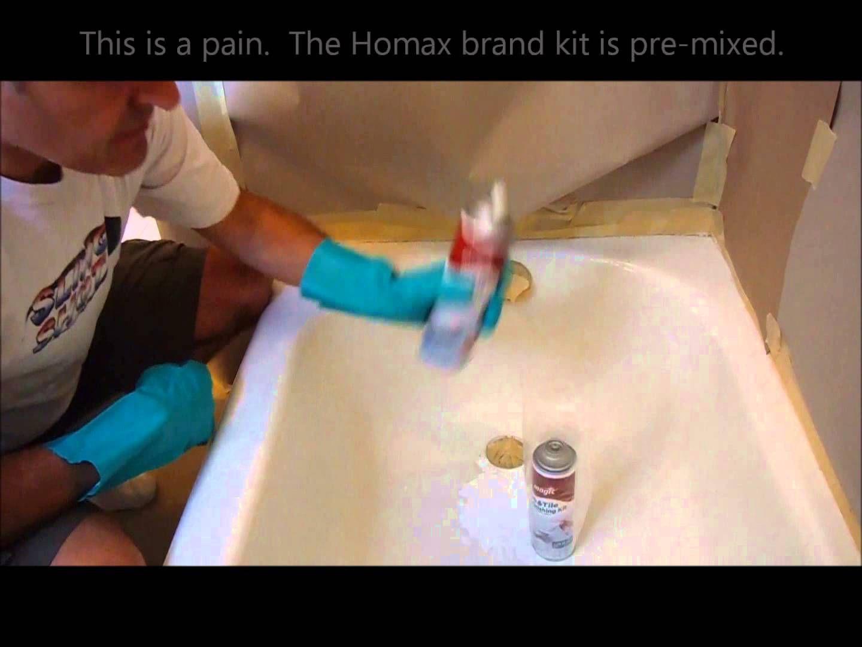 Re Enamel Bathtub Using The Magic Kit Review Refinish Bathtub Bathtub Bathtub Repair