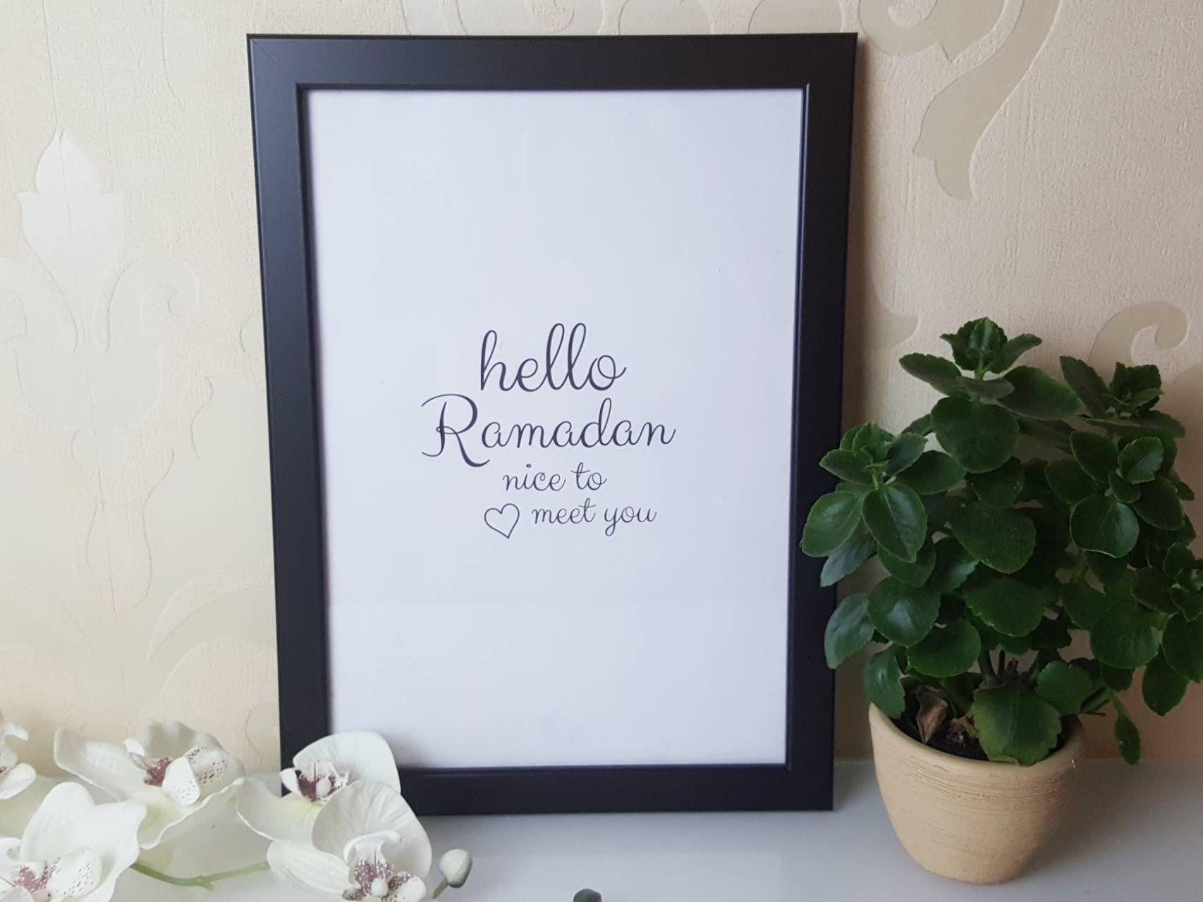 hello Ramadan Wandbild, Ramadan Dekoration, Eid Dekoration, Poster ...