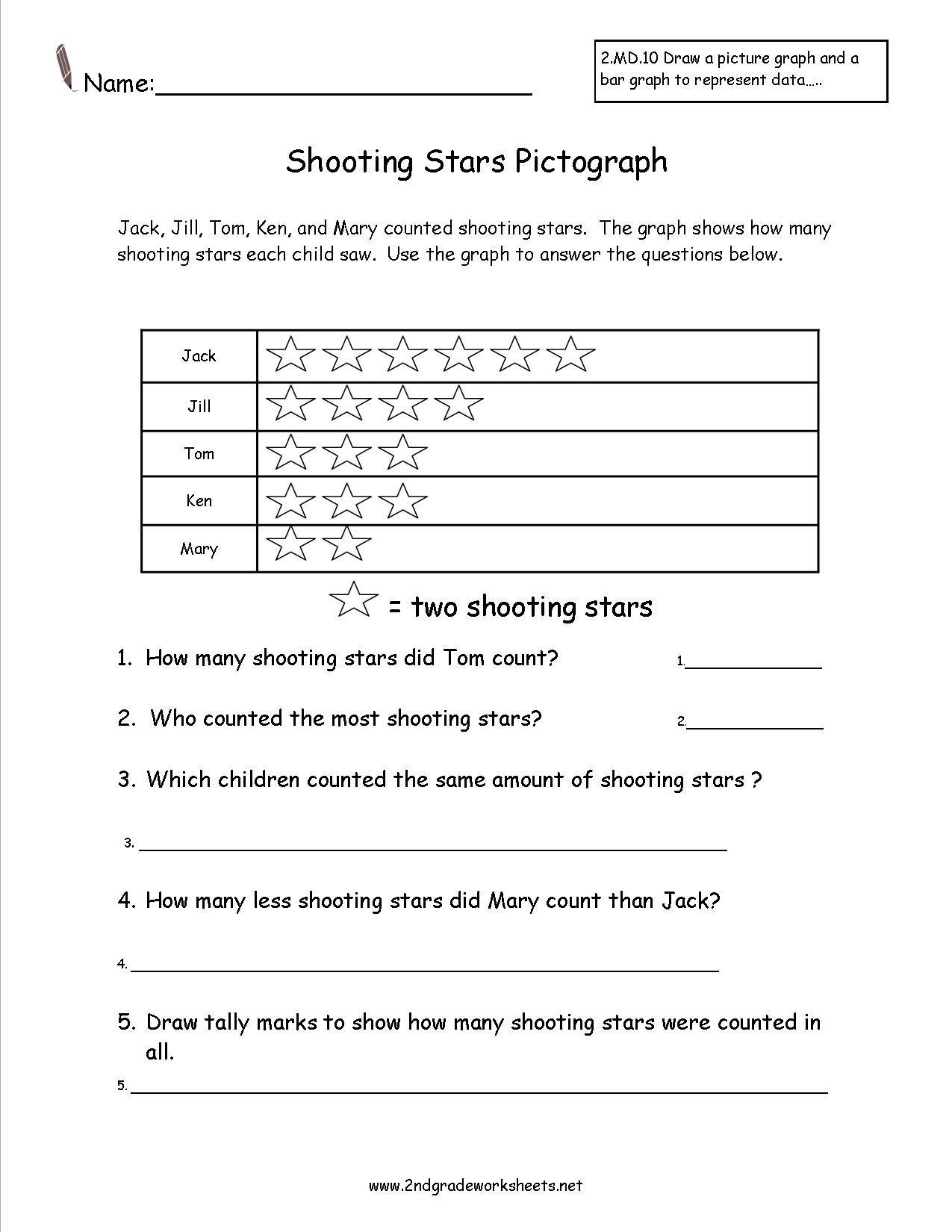 Uncategorized Star Worksheets shooting stars pictograph worksheet teaching pinterest worksheet