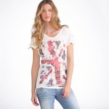 $36 Camiseta kaporal 5 - estampada, escote de pico, manga corta - KAPORAL 5